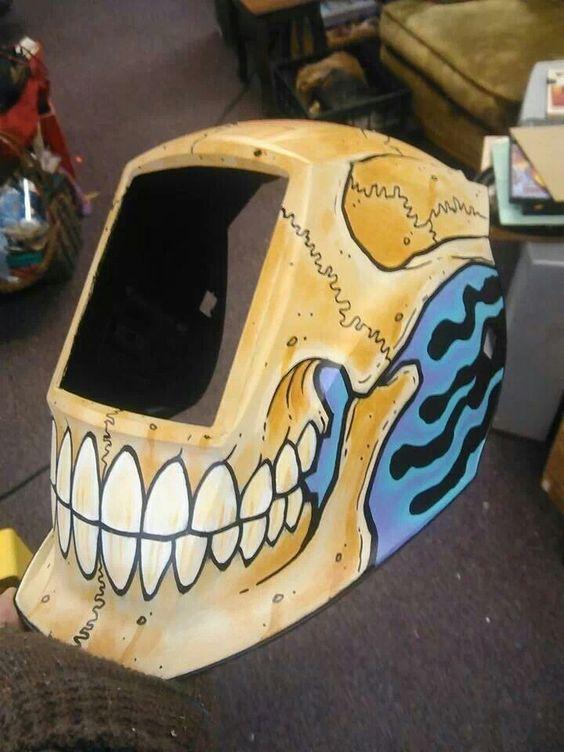 Leslie Bennett welding helmet