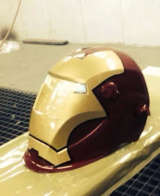 Iron Man welding helmet