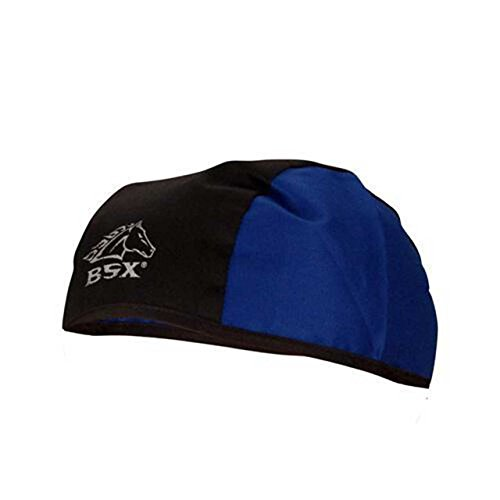Black Stallion BSX BC5B-BLU Black/Blue Cotton Beanie
