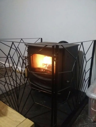 Creative Log Burner Fireguard