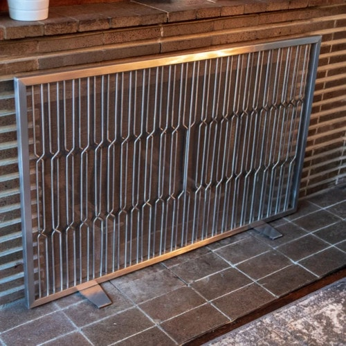 Stainless Steel Fireplace Screen
