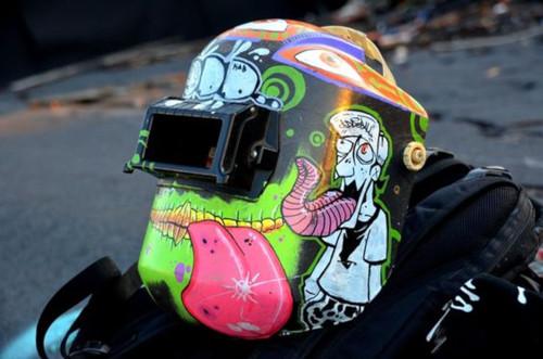 The Tagged Helmet