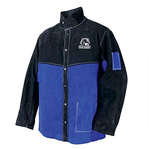 Black Stallion JL1030-BB Color Block Leather Welding Jacket