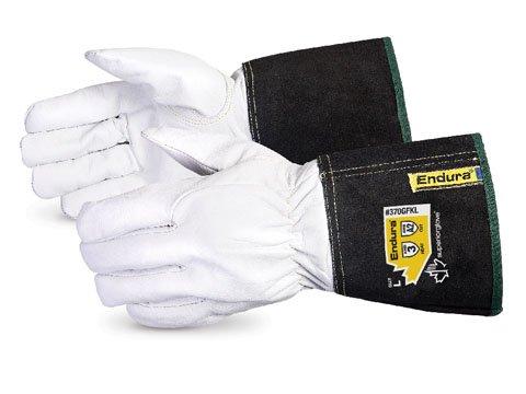 Superior 370GFKL Precision Arc Goatskin Leather Welding Gloves with Kevlar Lining, TIG Welding Gloves