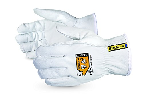 Superior Goatskin Leather Work Gloves – Kevlar Lined Cut Resistant, Arc Flash Safety Work Gloves (Endura-378GKTFG)