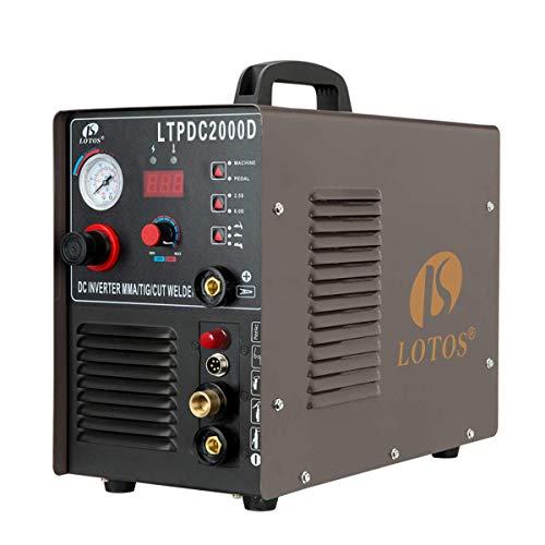 Lotos LTPDC2000D Plasma Cutter/Tig/Stick Welder 3 in 1 Combo