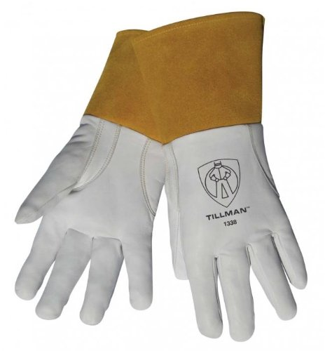 "Tillman 1338 Top Grain Goatskin TIG Welding Gloves with 4"" Cuff"