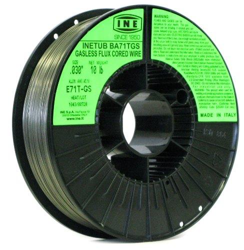 INETUB BA71TGS .030-Inch Carbon Steel Gasless Flux Cored Welding Wire