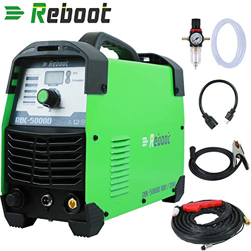 "Reboot Plasma Cutter 50Amps 110/220V Dual Voltage Compact Metal Cutter AC 1/2"" Clean Cut Inverter Cutting Machine"