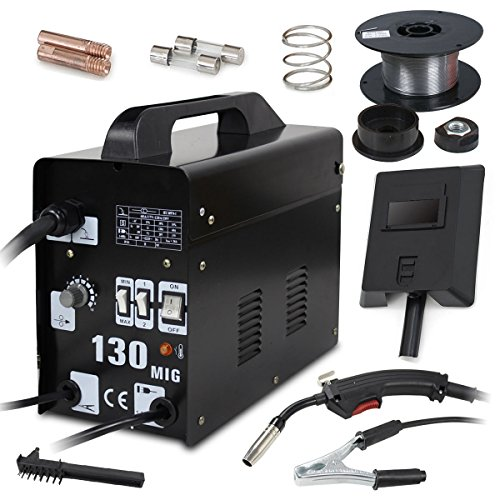 Super Deal PRO MIG 130 Flux Core Wire Automatic Feed Welder