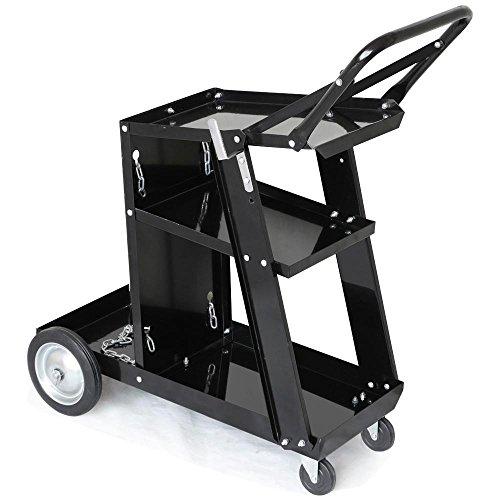 Yaheetech 3-Tier Welding Cart MIG TIG ARC Plasma Cutter Welder Welding Cart Universal W/Tank Storage