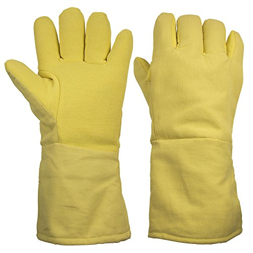 ThxToms 932°F Heat Resistant and Level 4 Cut Resistant Kevlar Work Gloves 15""
