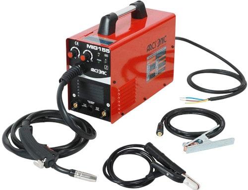 Arcsonic 220V IGBT Inverter Mig Welding Machine MIG155 Gas/No Gas, MMA/MIG Flux Wire Welding machine 2 in 1 MMA/Mig Welding Machine 220V Input