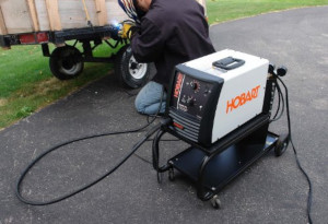 a flux core welder