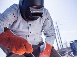 a passive welding helmet
