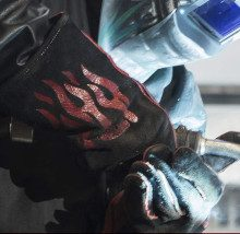 a welding gloves