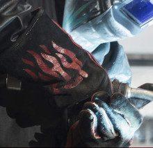 a welding gloves