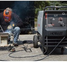 an engine-driven welder generator