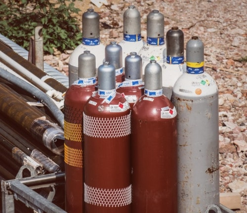 compressed air bottle gas