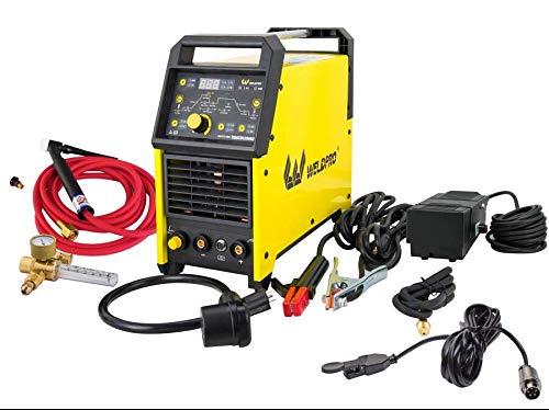 Weldpro Digital TIG200GD ACDC 200 Amp Tig/Stick Welder with Pulse CK17 Superflex Torch Voltage 220V/110V