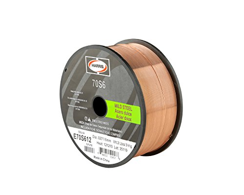 Harris E70S6F9 ER70S-6 MS Spool with Welding Wire, 0.035 lb.