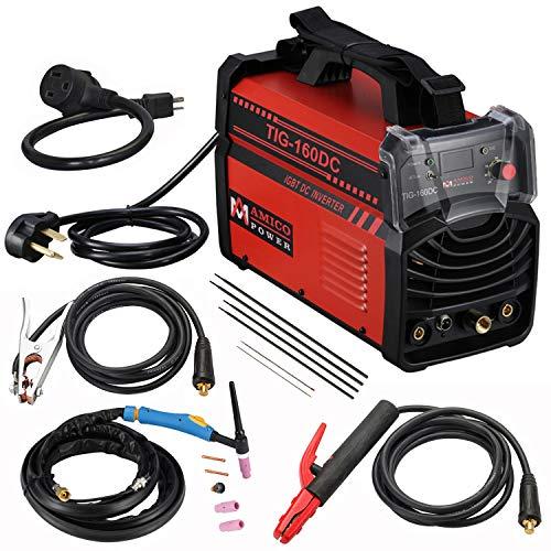 Amico TIG 160 Amp Torch ARC Stick DC Welder 110/230V Dual Voltage Welding Machine New