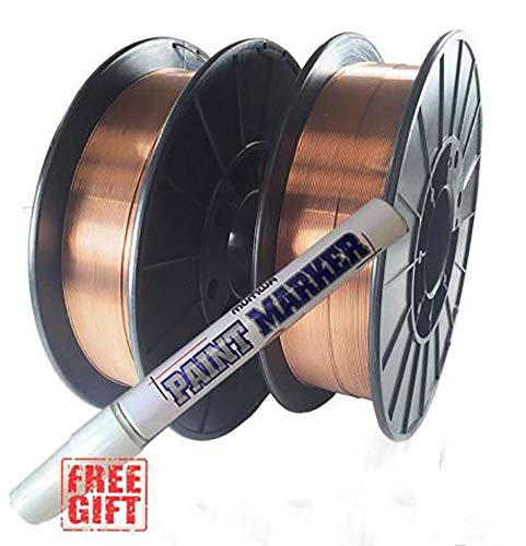 """HYW PRODUCTS 2 Rolls ER70S-6 .023"""" .030"""" .035"""" 10-LB Spool Mild Steel MIG Welding Wire (2 Rolls of 0.030"""") - Best for the Money"""