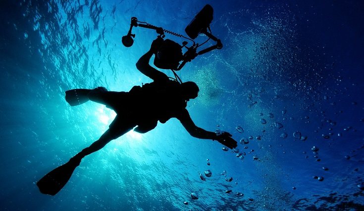 Diver with Underwater Camera