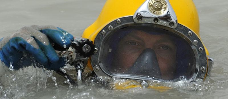 diver at surface
