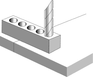 Metalock_process_1_cold metal stitching drilling
