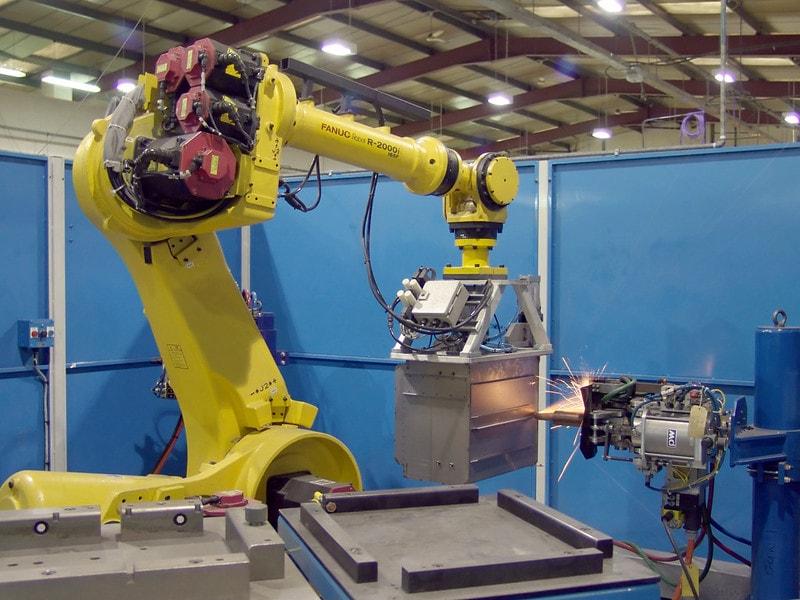 Robot Spot Welding An Oven