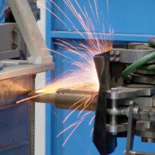 Robotic Spot Welding Sparks