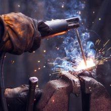 close up welding