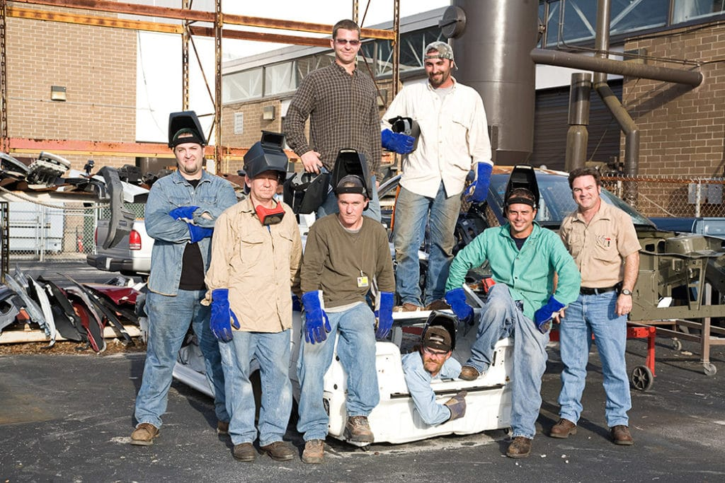 group of welders