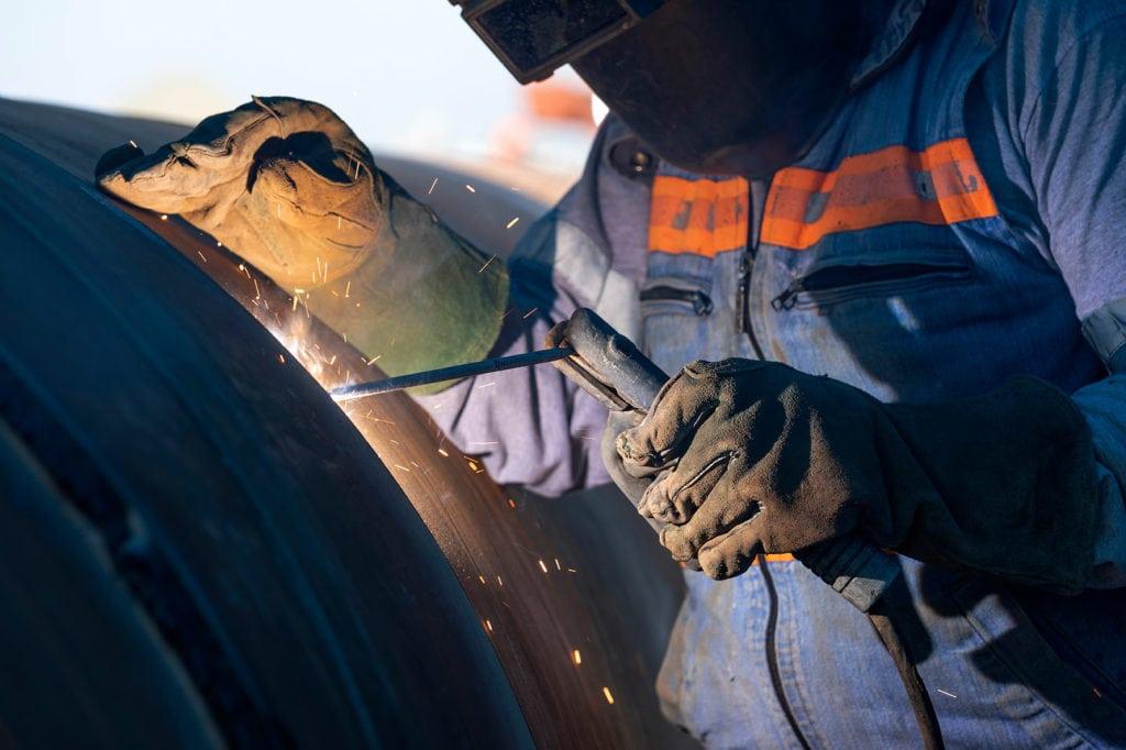 Shielded metal arc welding or SMAW